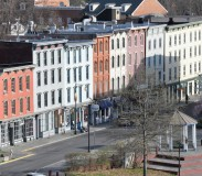 A row of 19th Century buildings on West Strand in the historic downtown waterfront district. (March 28, 2012)