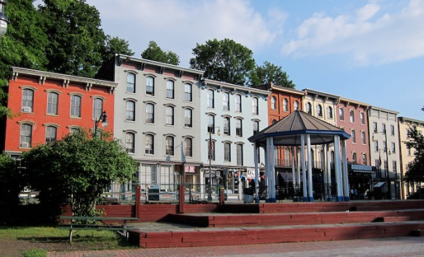 West Strand Buildings in Rondout Waterfront area of Kingston