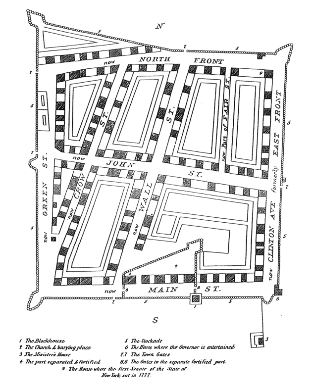 Map of the stockade